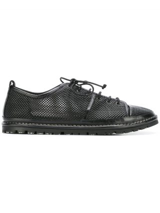 Marsèll perforated lace-up sneakers (zwart)