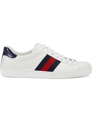 Gucci Ace leather low-top sneaker - White