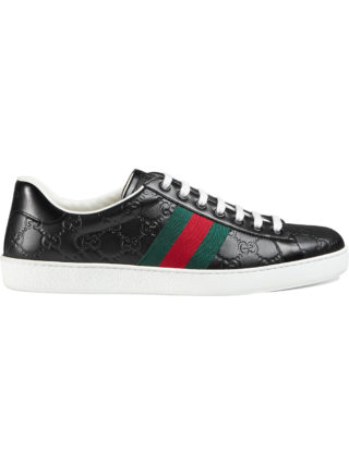 Gucci Ace Gucci Signature low-top sneaker - Black