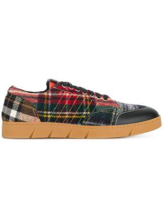 Loewe tartan sneakers - Red