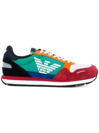 Emporio Armani logo sneakers (multicolor)