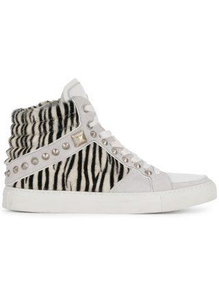 Zadig & Voltaire zebra print hi-top sneakers (wit)