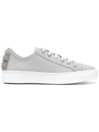 Fabiana Filippi embellished heel lace-up sneakers (grijs)