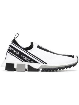 Dolce & Gabbana black and white logo print neoprene sneakers (wit)