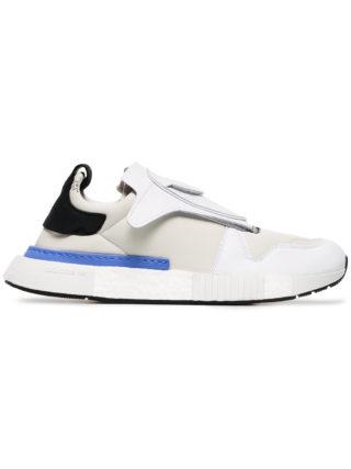Adidas white futurepacer leather sneakers