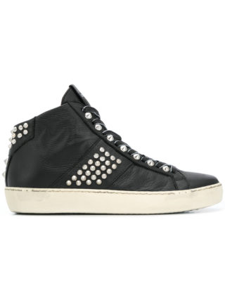 Leather Crown Crown Wiconic sneakers (zwart)
