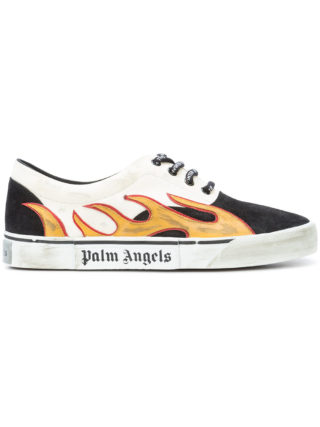 Palm Angels flame low-top sneakers (zwart)