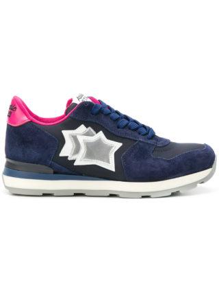 Atlantic Stars star embroidered sneakers (blauw)