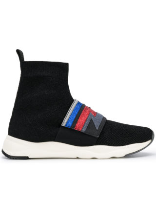 Balmain Cameron glittered sneakers (zwart)