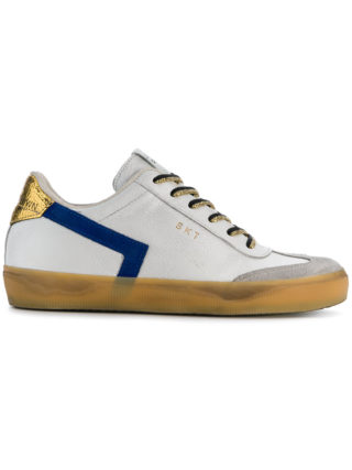 Leather Crown colour block sneakers (wit)