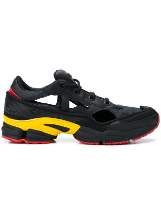 factory authentic a0cf7 ab250 Adidas By Raf Simons black Replicant Ozweego sneaker with socks