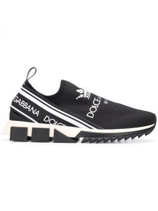 Dolce & Gabbana branded Sorrento sneakers (zwart)