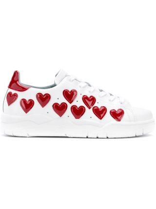 Chiara Ferragni hearts-appliquéd sneakers (wit)