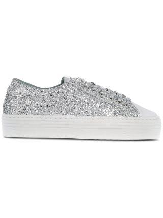 Chiara Ferragni glittered sneakers (zilver)