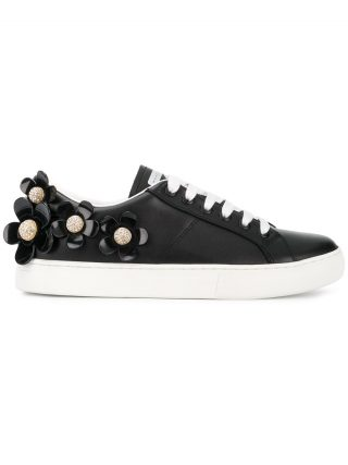 Marc Jacobs Daisy lace-up sneakers (zwart)