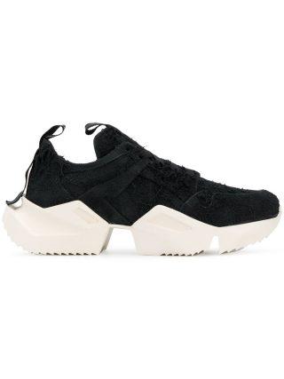 Unravel Project contrast low-top sneakers (zwart)