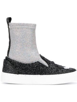 Chiara Ferragni Flirting sock sneakers (zwart)
