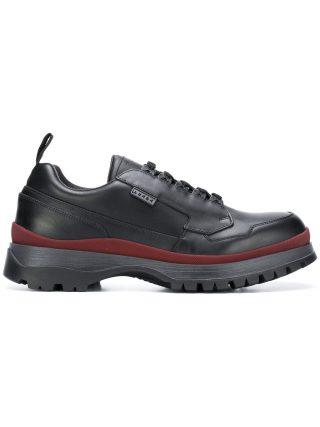 Prada chunky sole low top sneakers (zwart)