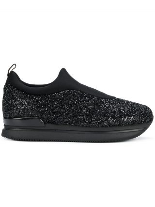 Hogan H222 glitter sneakers - Black
