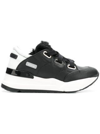 Rucoline colour block platform sneakers (zwart)