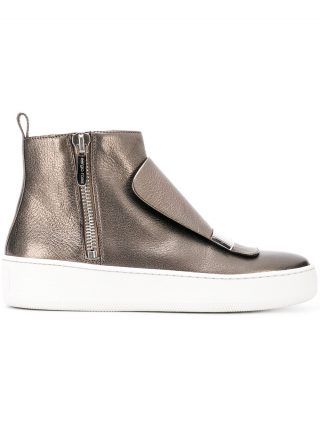Sergio Rossi high-top sneakers (zilver)