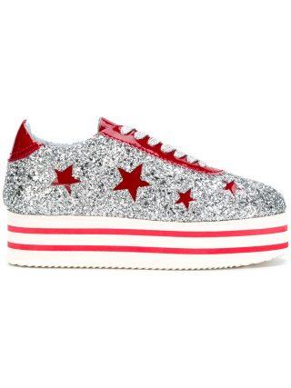 Chiara Ferragni platform star sneakers (zilver)