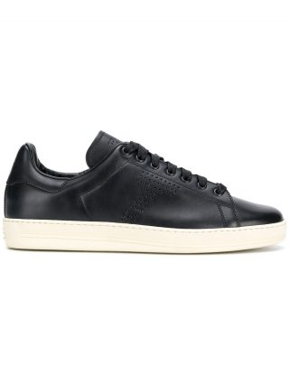 Tom Ford perforated logo sneakers (blauw)