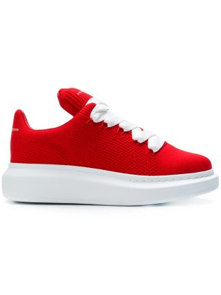 Alexander McQueen leather trainers - Red