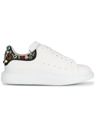 Alexander McQueen embellished oversized sneakers - White
