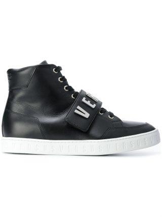 Versus logo high top sneakers (zwart)