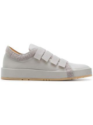 Jil Sander touch strap low top sneakers (grijs)
