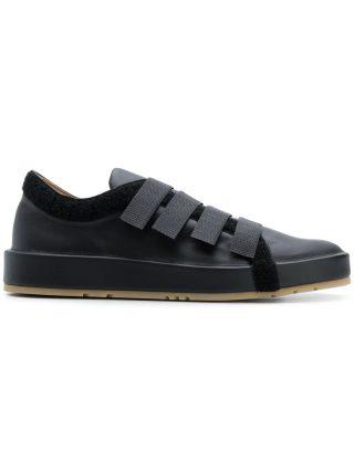 Jil Sander touch strap low top sneakers (zwart)