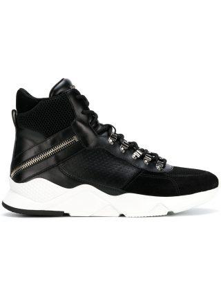 Balmain ankle lace-up sneakers (zwart)