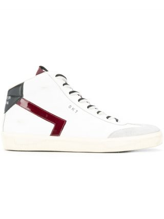 Leather Crown SKT sneakers - White