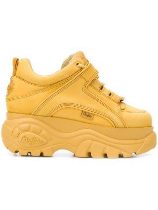 Buffalo platform sole sneakers (geel/oranje)