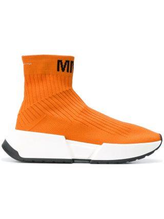 Mm6 Maison Margiela hi-top trainers (geel/oranje)