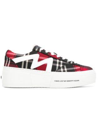 MSGM tartan platform sneakers (rood)