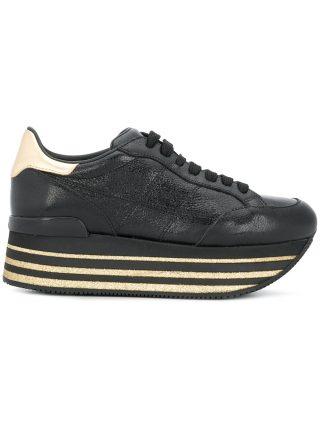 Hogan Maxi H222 glitter sneakers - Black