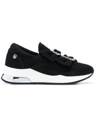 Liu Jo bow buckle sneakers (zwart)