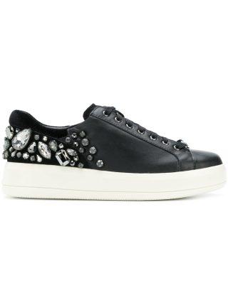 Liu Jo crystal embellished sneakers (zwart)