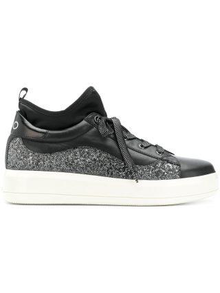 Liu Jo platform glitter sneakers (zwart)