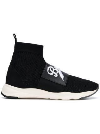 Balmain Cameron hi-top sneakers (zwart)