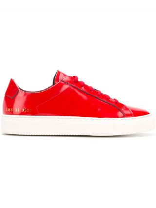 Common Projects Achilles contrast sole sneakers - Red