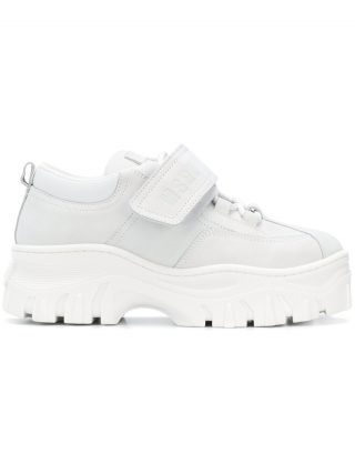 MSGM logo strap sneakers (wit)
