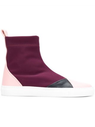 Cédric Charlier high ankle sneakers (roze/paars)