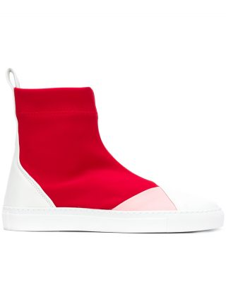 Cédric Charlier high ankle sneakers (rood)
