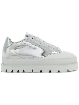 Mm6 Maison Margiela mirrored platform sole sneakers (zilver)