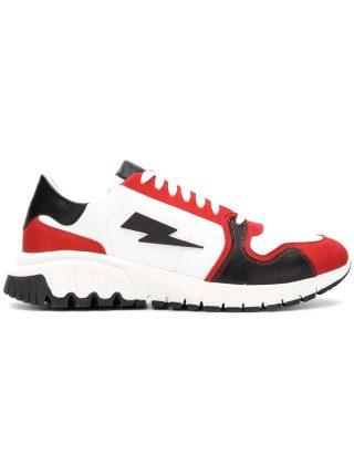 Neil Barrett lightning bolt sneakers (wit)