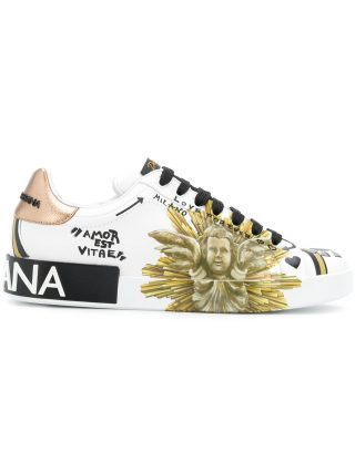 Dolce & Gabbana Amore est Vitae printed sneakers (wit)