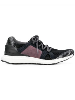 Adidas By Stella Mccartney color blocked textured trainers - Black